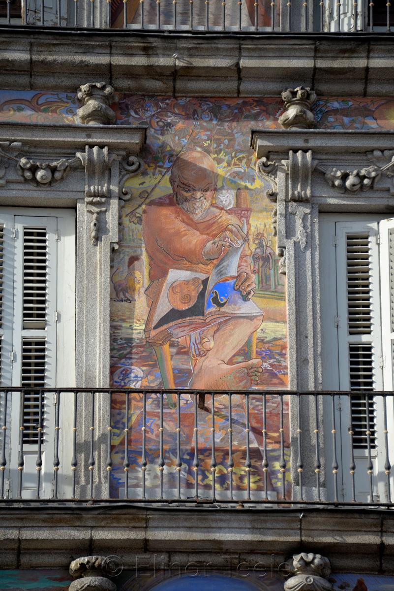 Mural, Casa de la Panaderia, Plaza Maoyr | Main Square, Madrid