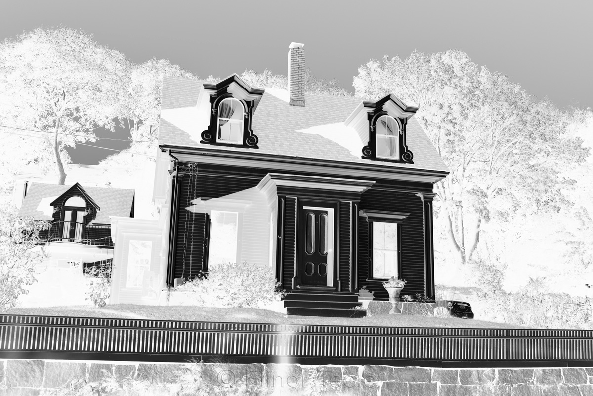 Hopper House - Study in Black & White