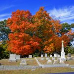 Cemetery - Fall Foliage in October 1