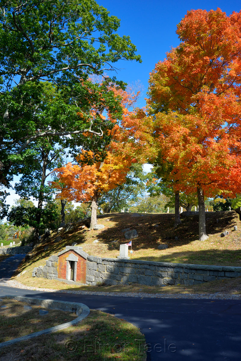 Cemetery - Fall Foliage in October 5