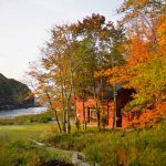Fall Foliage - Red House 2