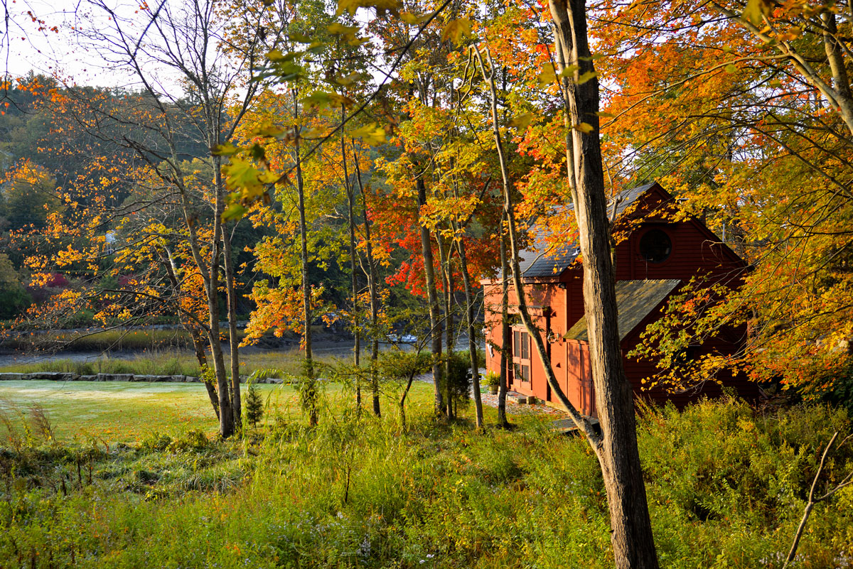 Fall Foliage - Red House 3