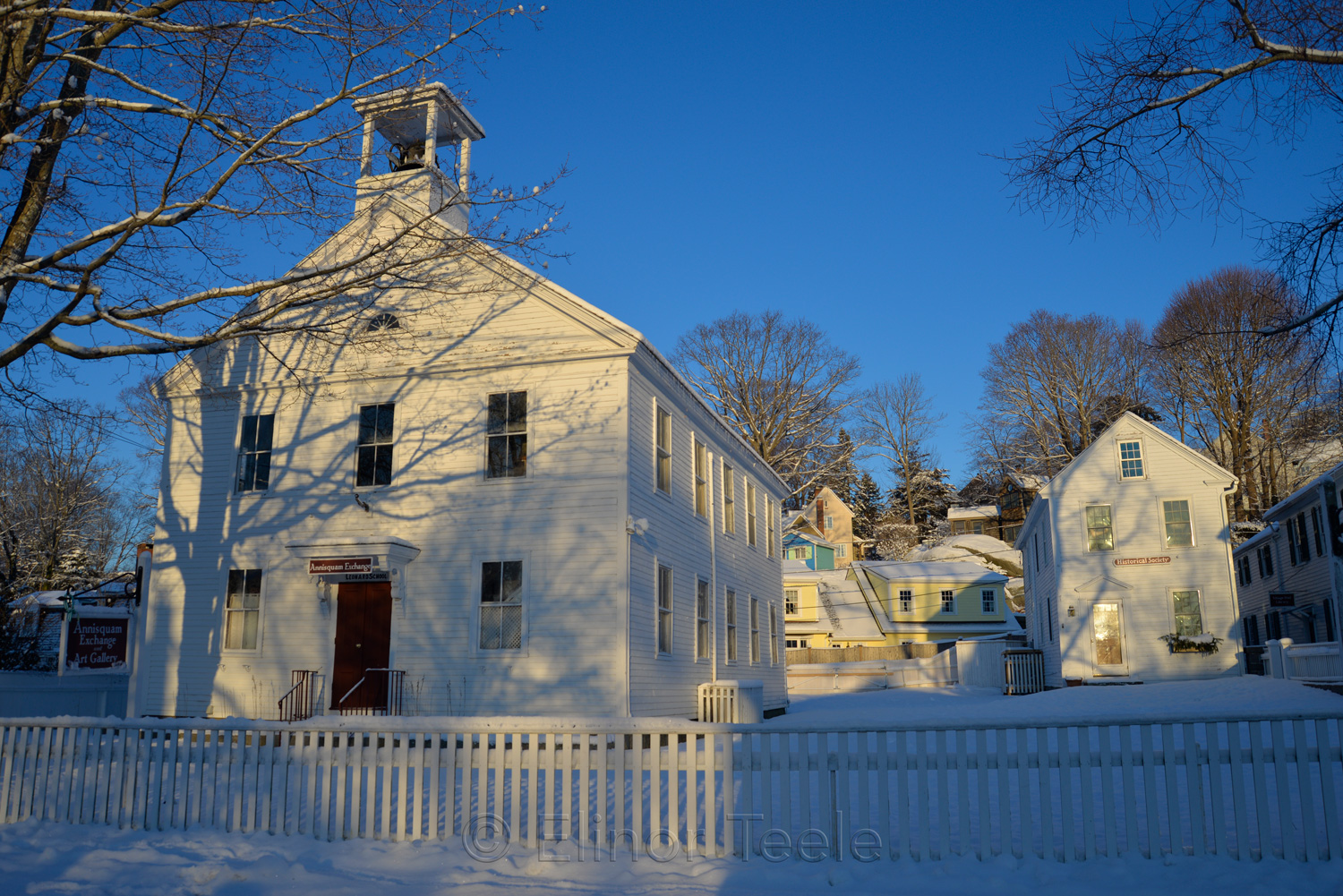 Annisquam Exchange & Historical Society in Winter