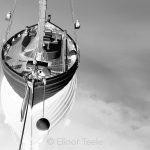 Boat & Mooring - Black & White Abstract