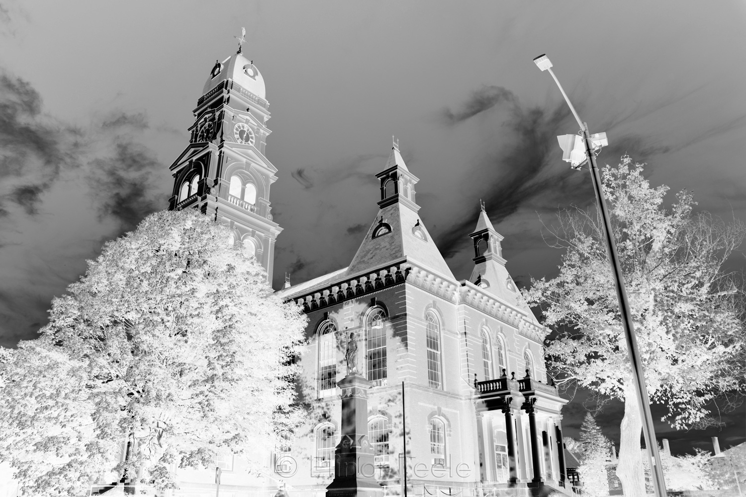 Gloucester City Hall - Black & White Abstract