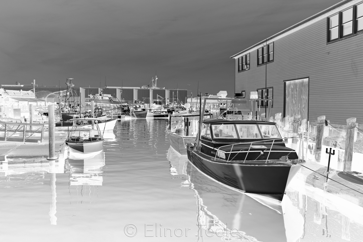 Harbor Cove - Black & White Abstract 1