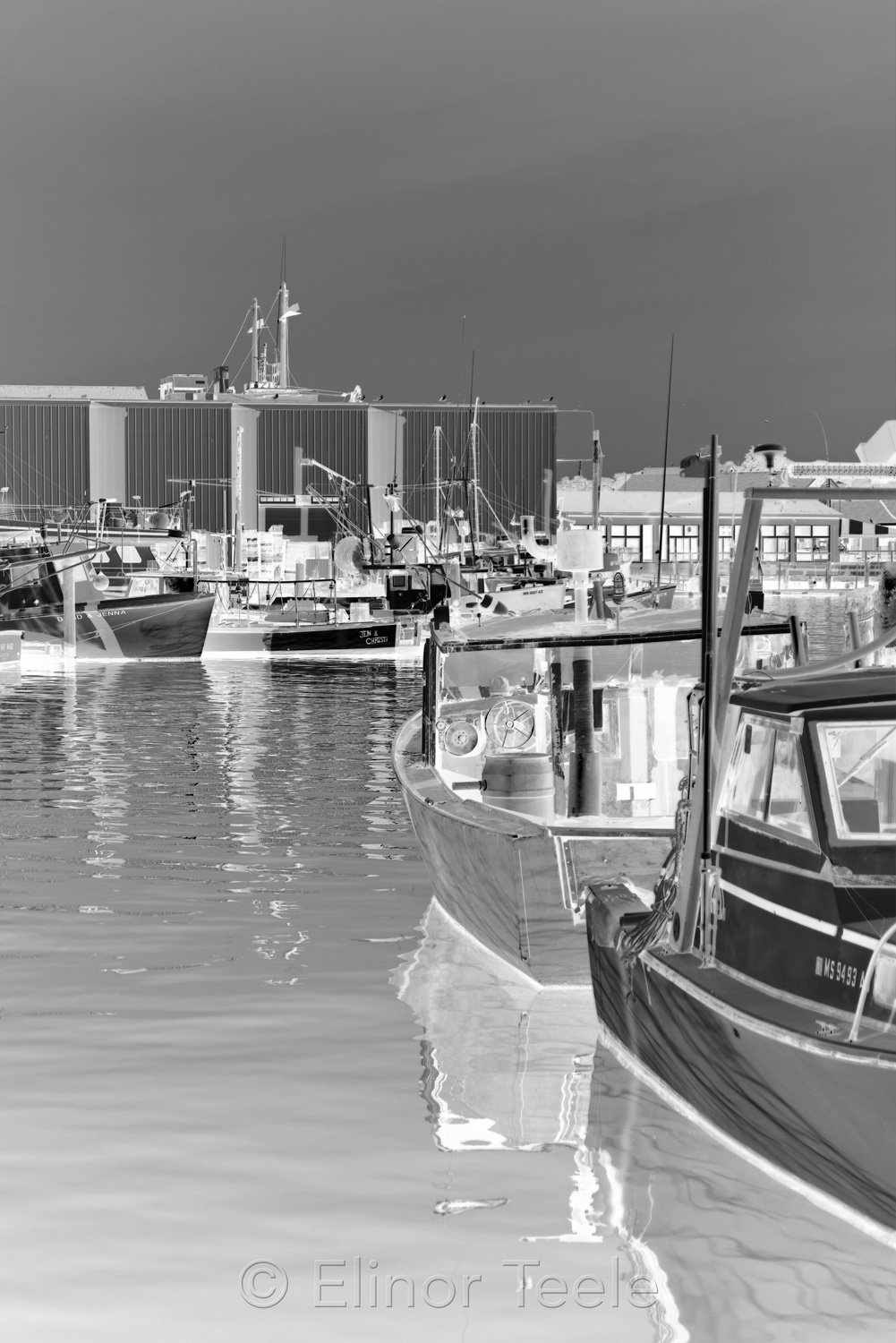 Harbor Cove - Black & White Abstract 2