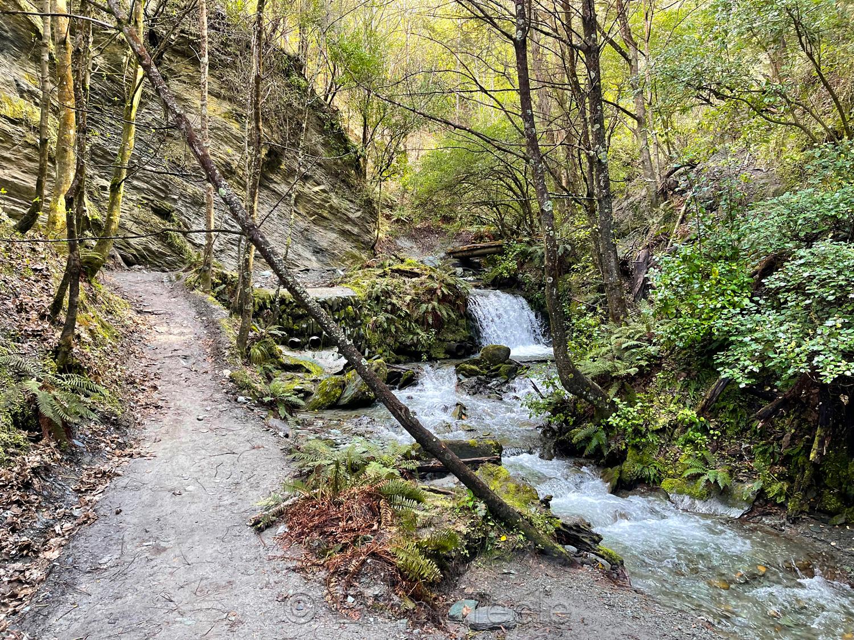 Bush Creek Waterfall in October 1