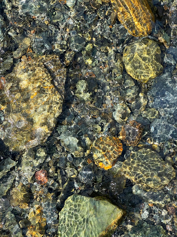 Rocks Underwater in Spring 2